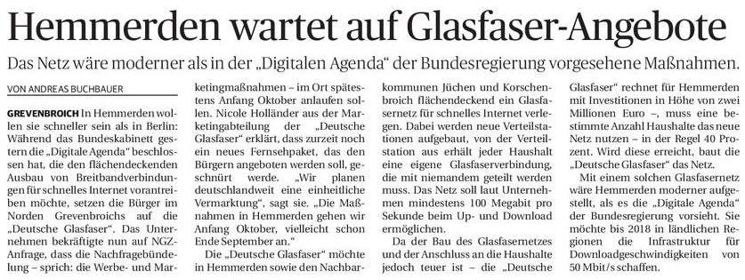 Neuss-Grevenbroicher Zeitung vom 21.08.2014