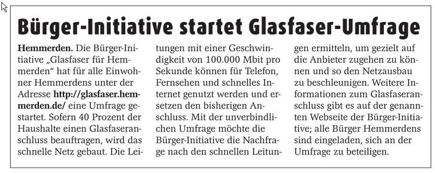 Erft-Kurier 20140924 Bürger-Initiative startet Glasfaser-Umfrage