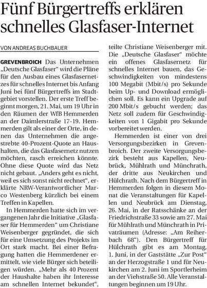 NGZ 20150520 Bürgertreffs