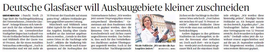 """Nicole Holländer: """"Wir werden die Ausbaupläne ändern."""" Archivfoto: L. Berns"""